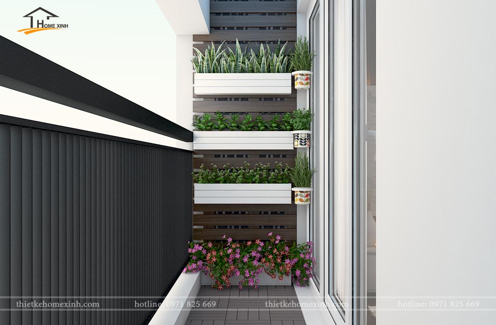 Logia của căn hộ chung cư