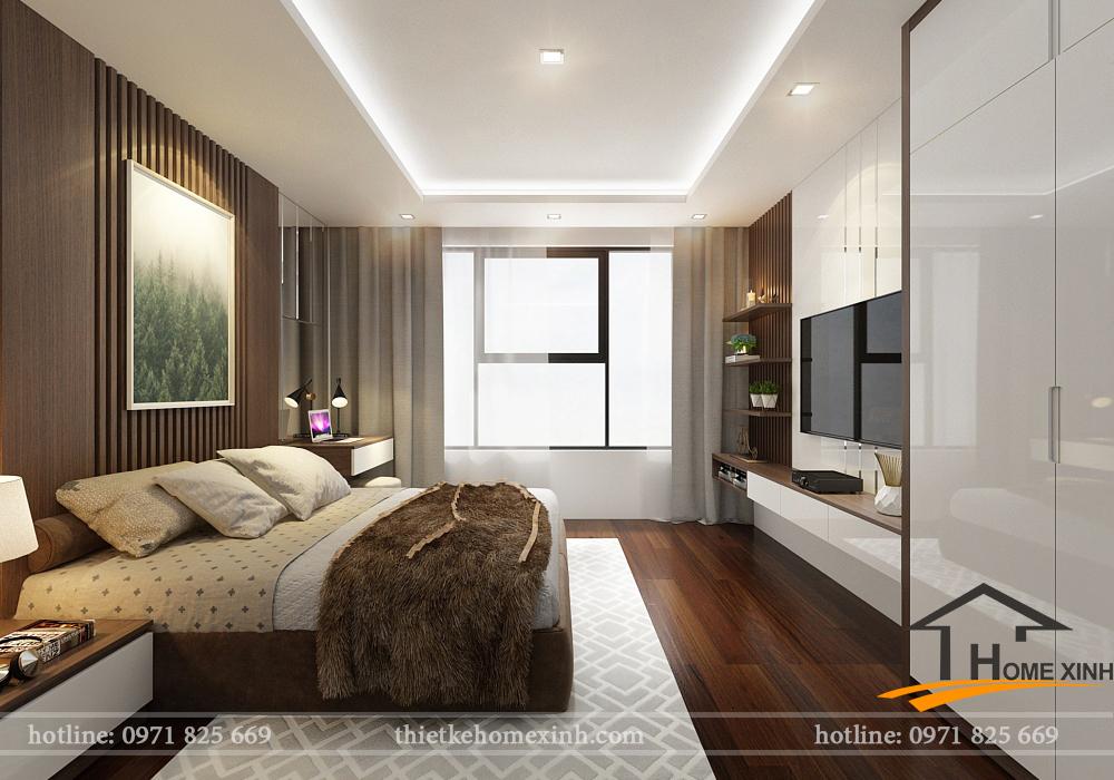 Phối cảnh 3D cho phòng ngủ master