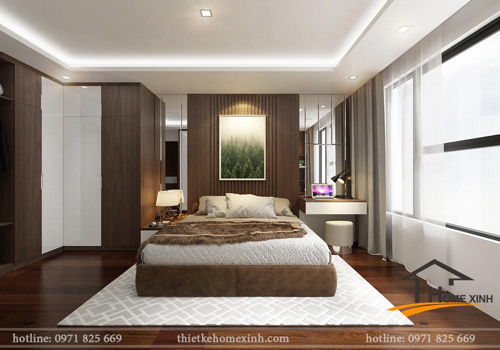 Không gian nội thất phòng ngủ master đẹp và hiện đại