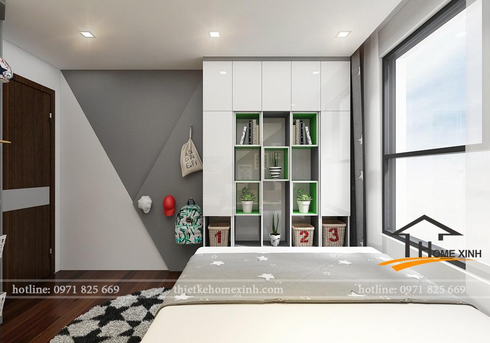 Hình ảnh thiết kế phòng ngủ con trai