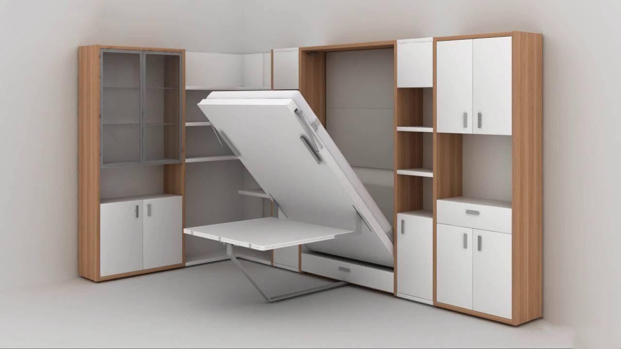 Giường kết hợp tủ đồ thông minh