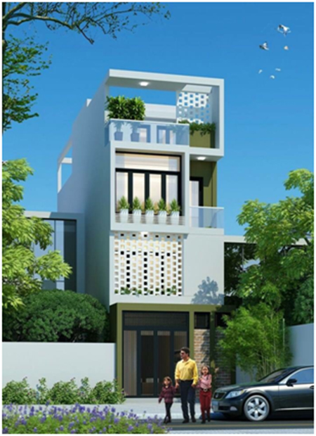 Beautiful townhouse design template