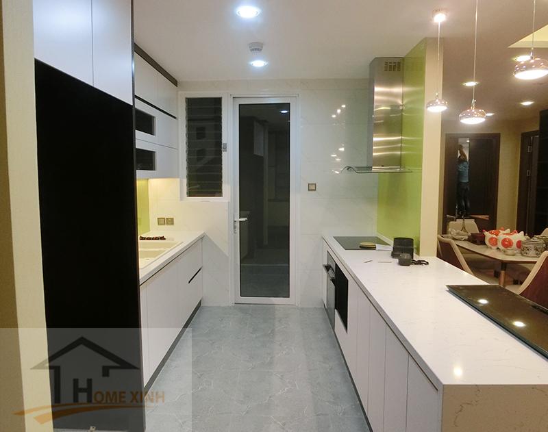 Nội thất phòng bếp thiết kế 2 cục chữ I đẹp và tiện nghi