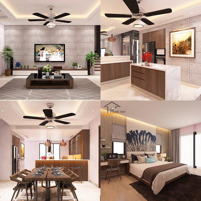 1. Mẫu thiết kế nội thất biệt thự song lập Dương Nội