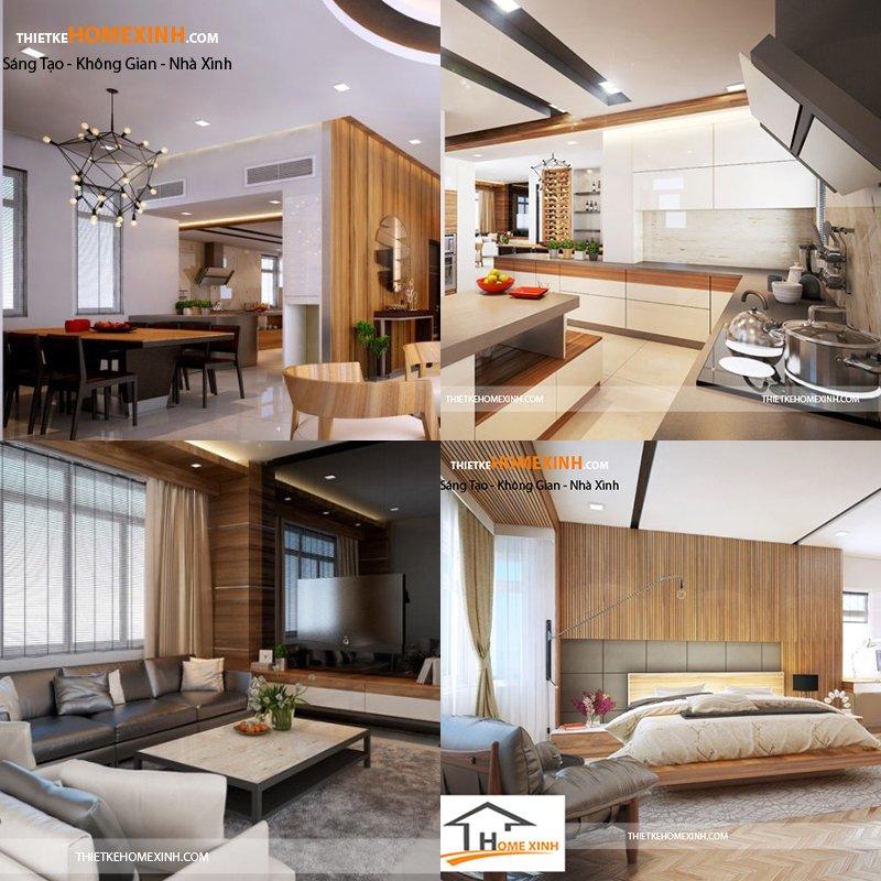4. Mẫu thiết kế nội thất biệt thự hiện đại ở Nghệ An