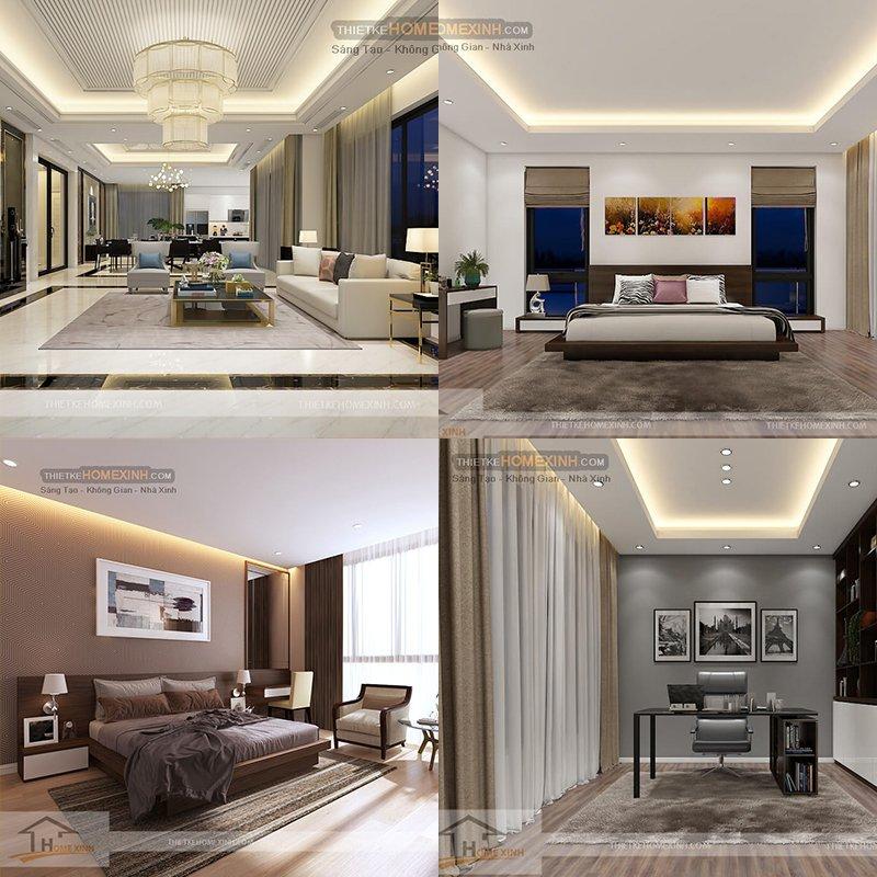 6. Mẫu thiết kế nội thất biệt thự hiện đại tại Sơn La