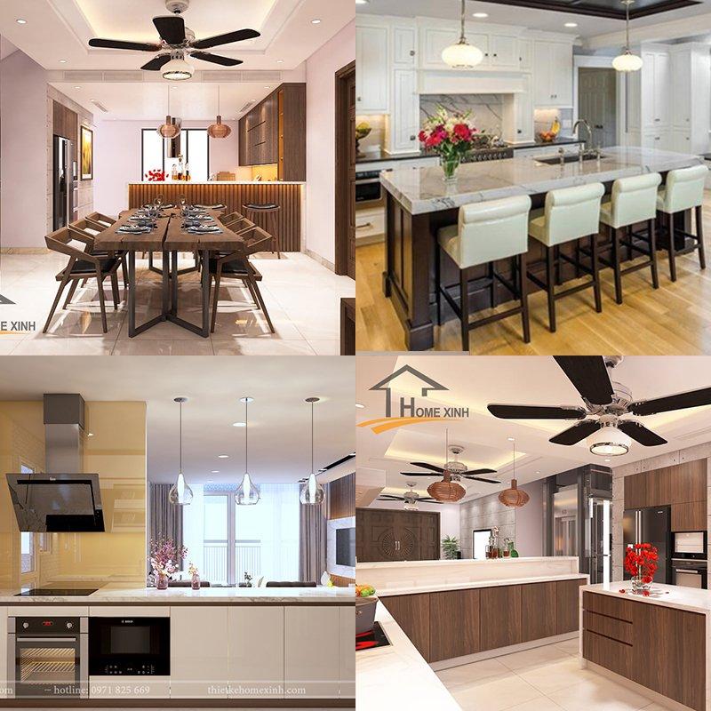Không gian nội thất phòng bếp, phòng ăn