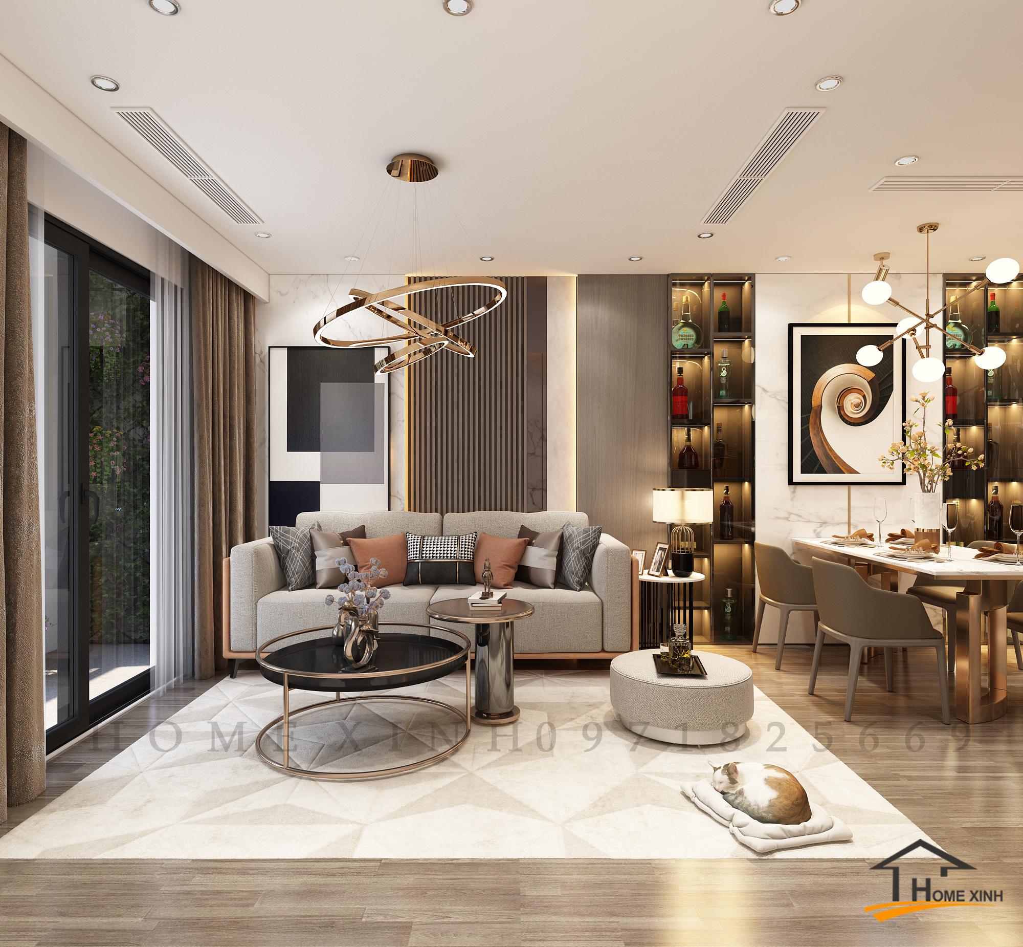 mẫu thiết kế nội thất chung cư mới nhất này.