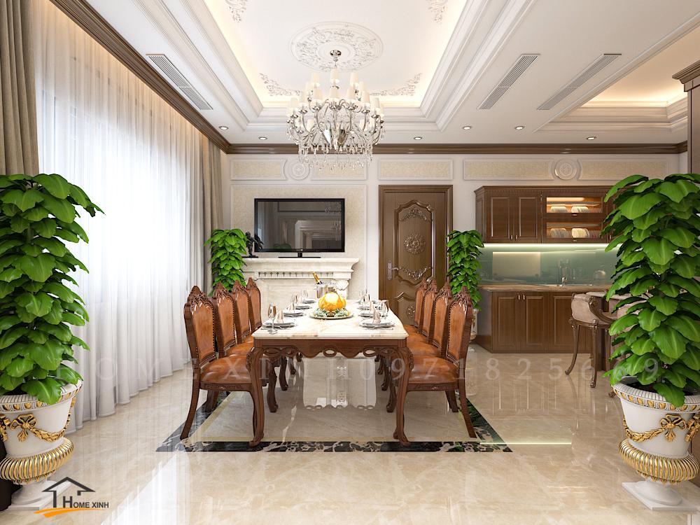 Thiết kế nội thất căn biệt thự song lập khu đô thị Dương Nội - Anh Biên