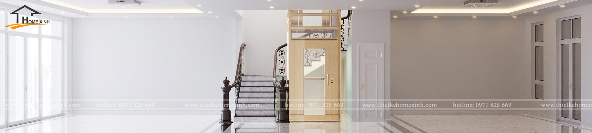 Thiết kế nội thất shophouse Louis Đại Mỗ - anh Phán
