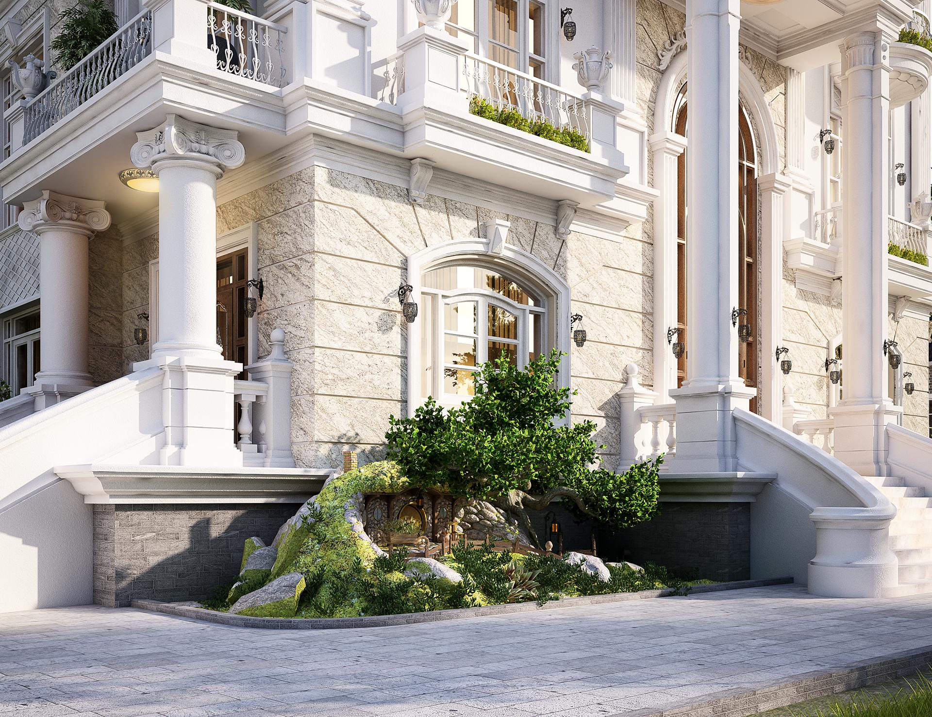 [Giới thiệu] Hình ảnh thiết kế kiến trúc ngoại thất biệt thự tân cổ