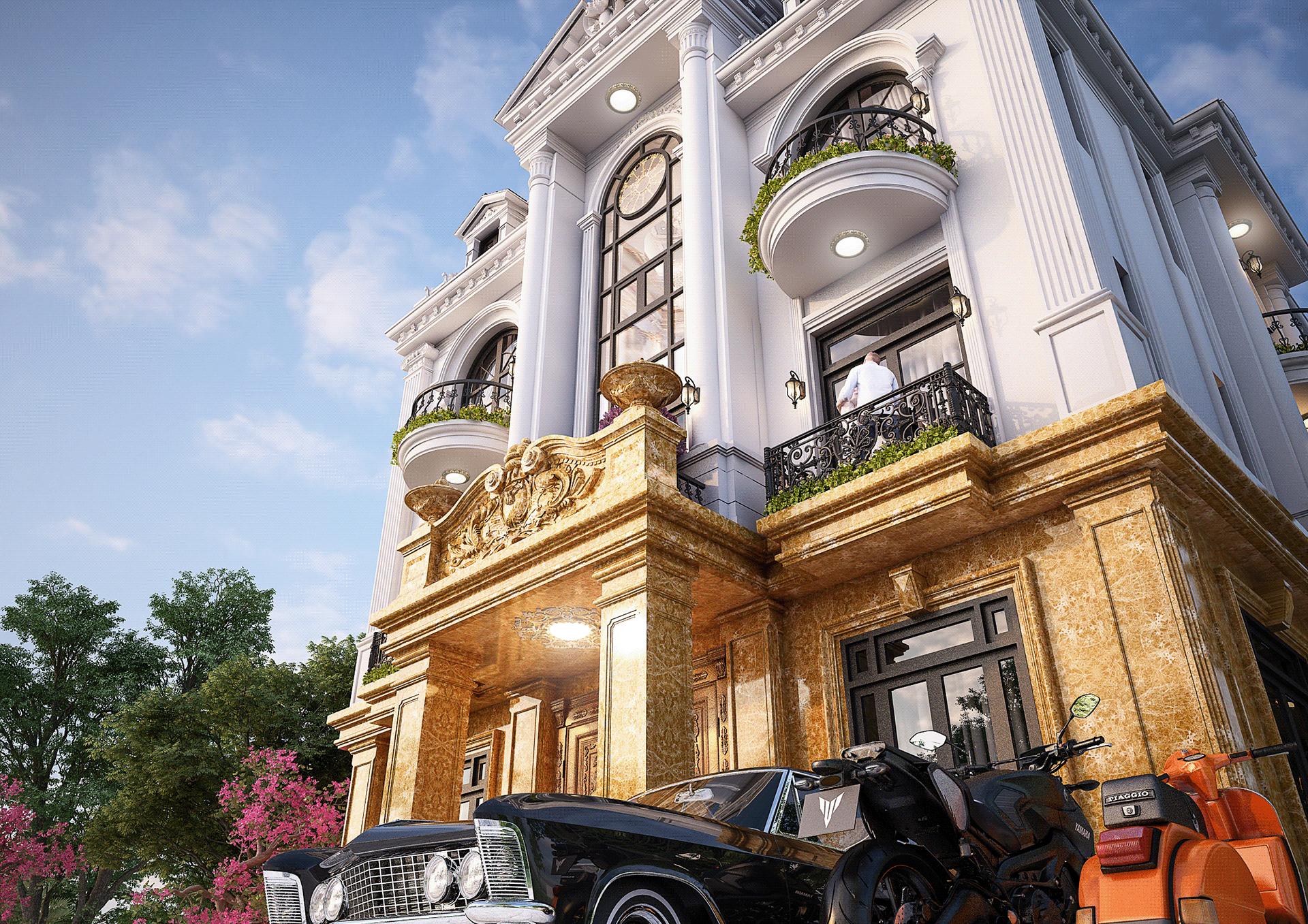 thiết kế kiến trúc biệt thự luxury