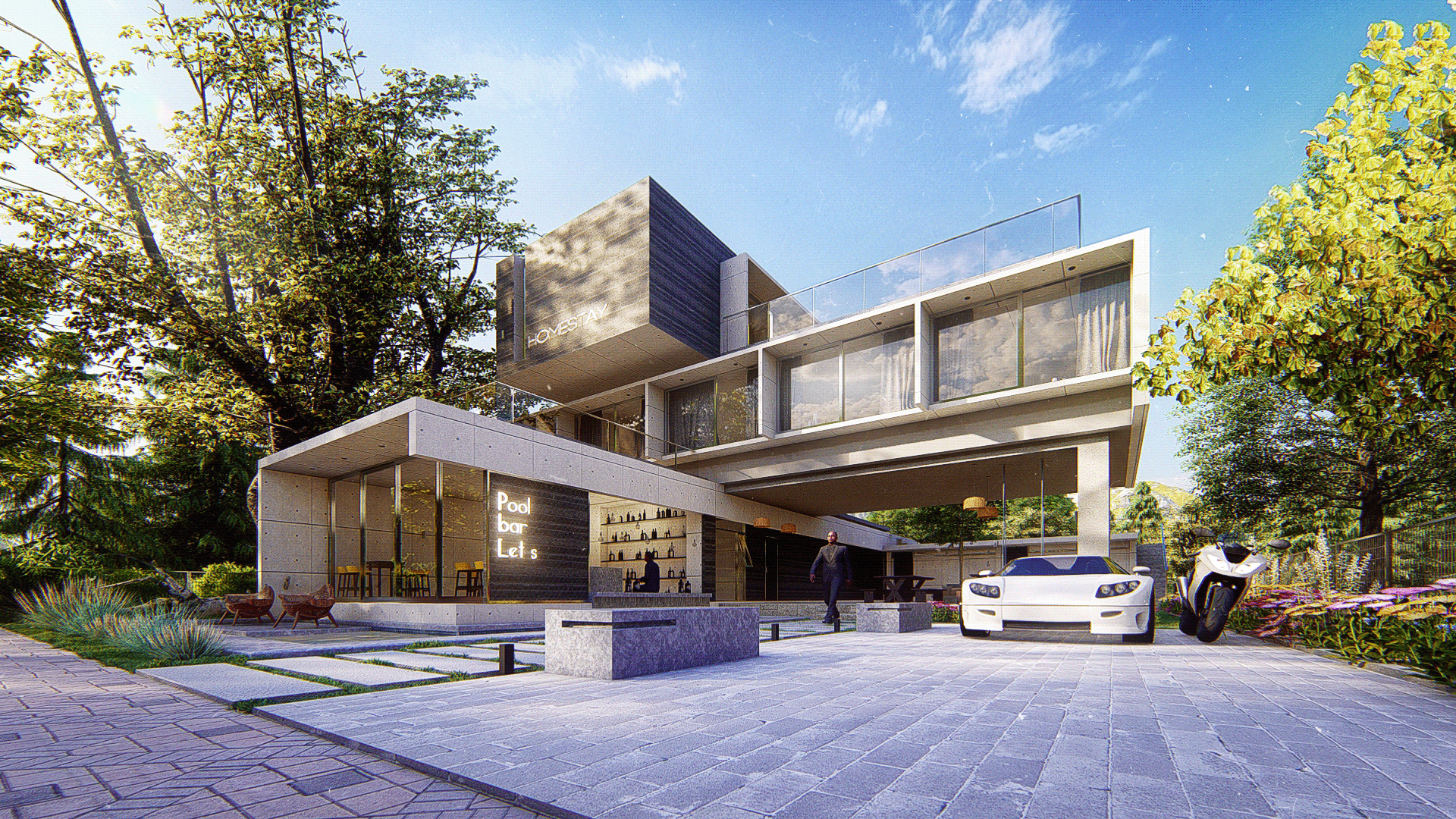 kiến trúc homestay