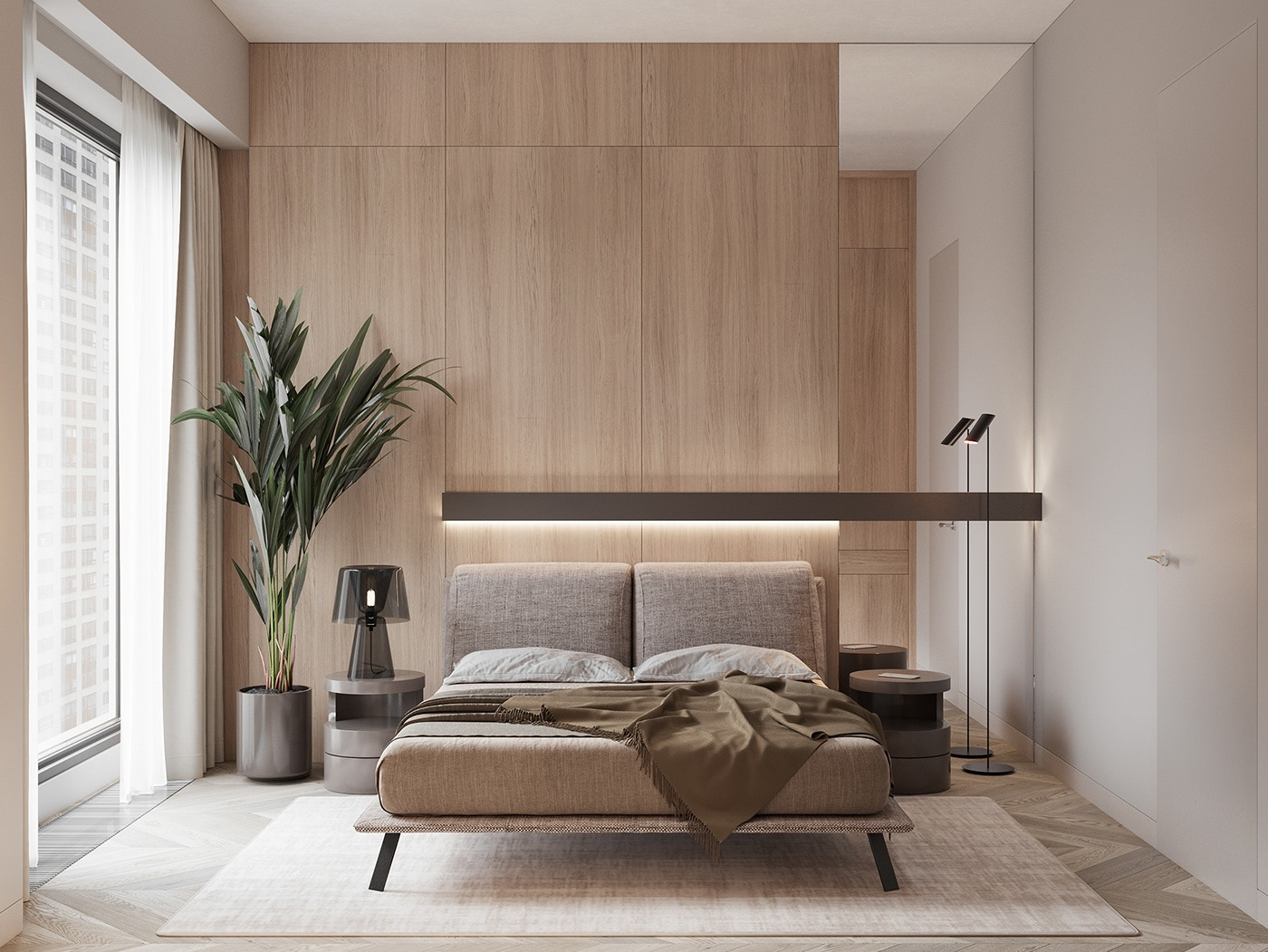 thiết kế nội thất chung cư cao cấp 2 phòng ngủ