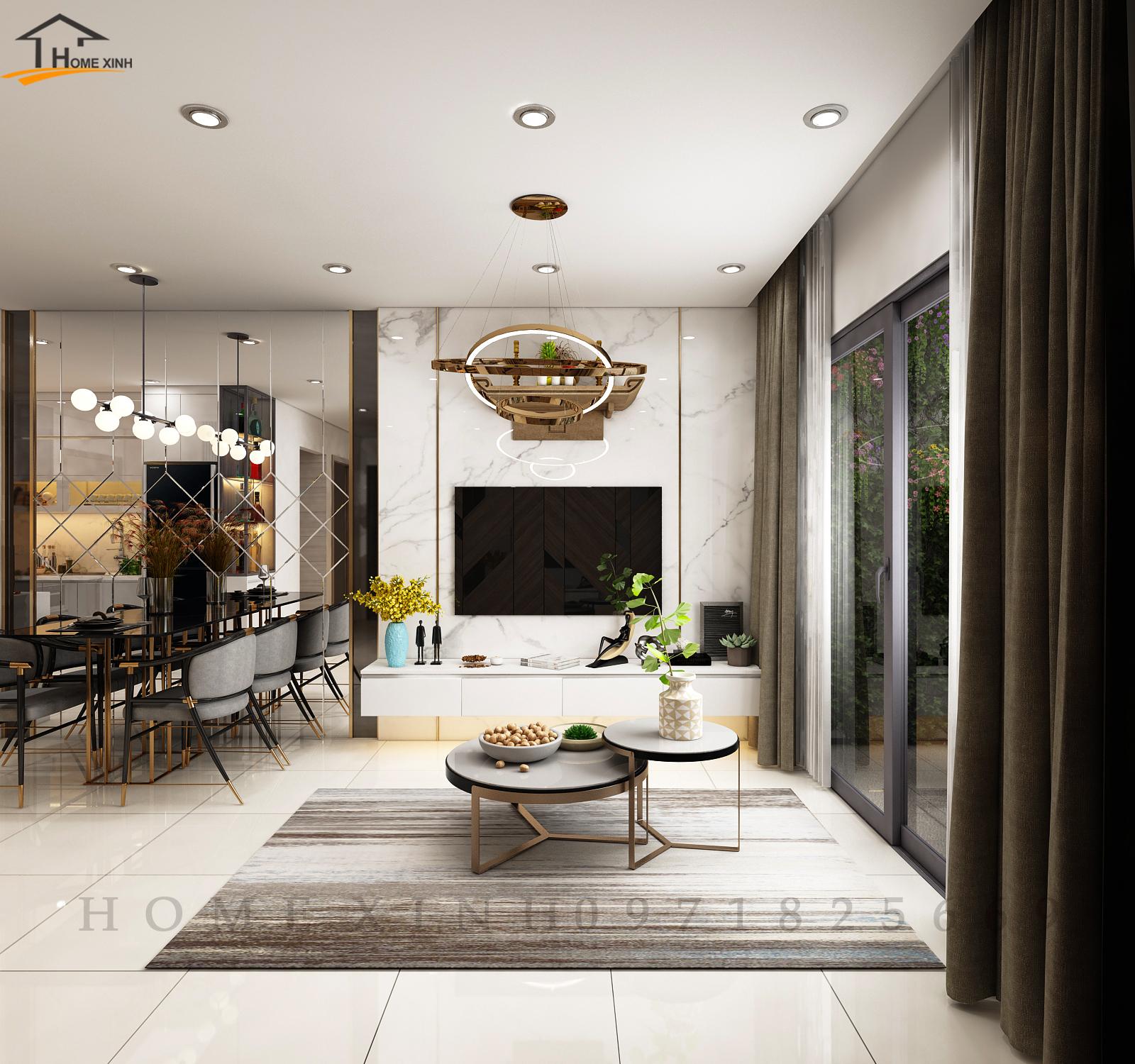 Thiết kế nội thất căn hộ chung cư Vinsmart City