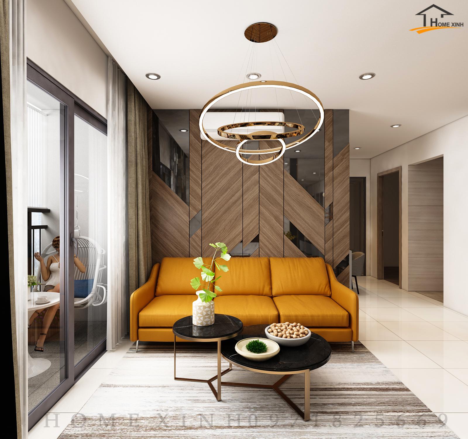 thiết kế nội thất căn hộ chung cư 55m2
