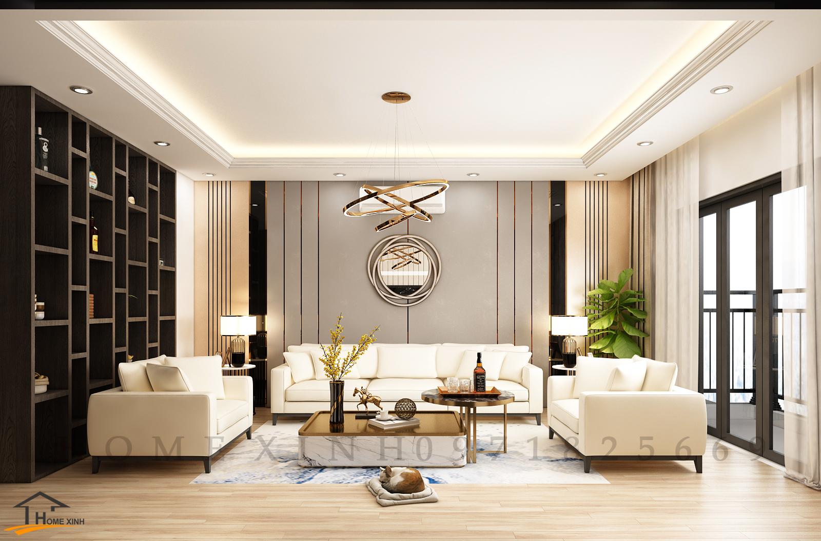 Thiết kế nội thất nhà liền kề ở Hải Phòng