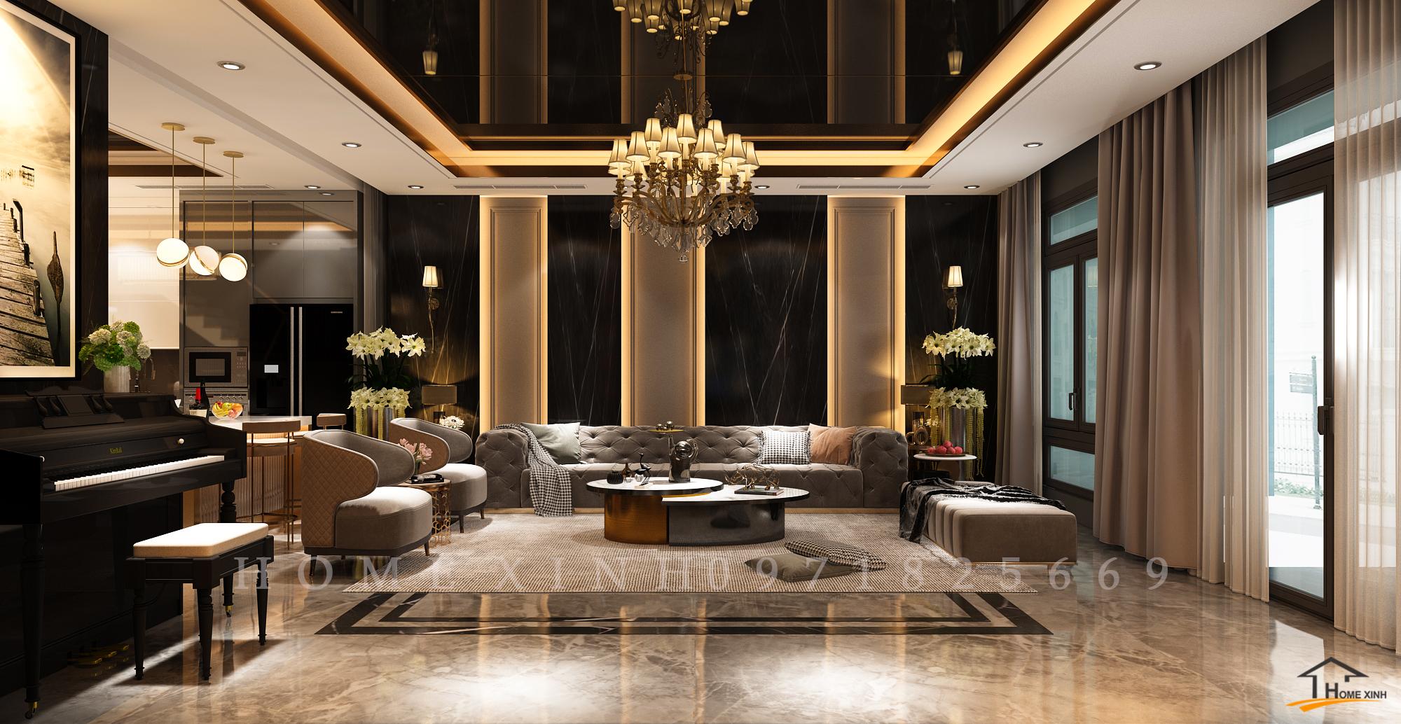 Thiết kế nội thất biệt thự phố 6 tầng – Khu đô thị Vạn Phúc, Thủ Đức