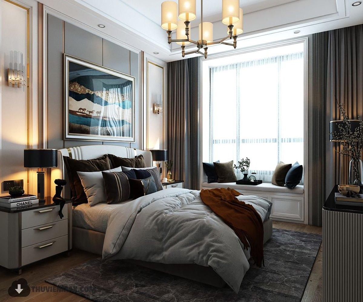 thiết-kế-nội-thất-phòng-ngủ-tân-cổ-điển